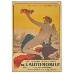 Affiche Vintage 1913 Mondial de l'Automobile