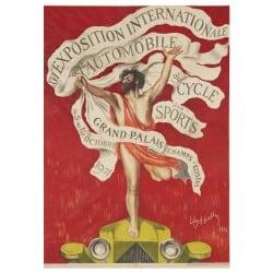 Affiche Vintage 1921 Mondial de l'Automobile