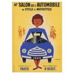 Affiche Vintage 1960 Mondial de l'Automobile