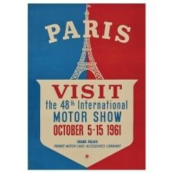 Affiche Vintage 1961 Mondial de l'Automobile
