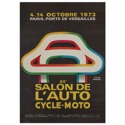 Affiche Vintage 1973 Mondial de l'Automobile