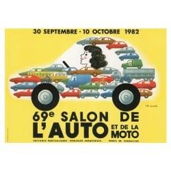 Affiche Vintage 1982 Mondial de l'Automobile