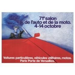 Affiche Vintage 1984 Mondial de l'Automobile
