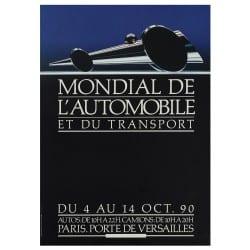 Affiche Vintage 1990 Mondial de l'Automobile