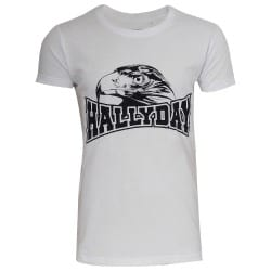 T-shirt Johnny Hallyday aigle blanc