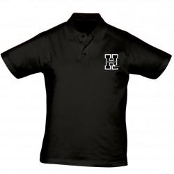 Polo NOIR Logo Griffe Hormadi