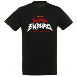 T-shirt Logo Super Enduro Noir